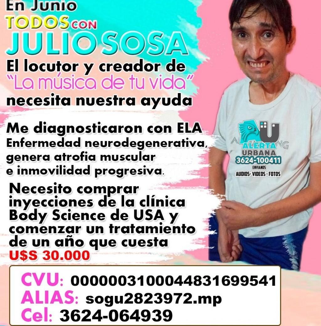 Campaña solidaria para Julio Sosa que padece ELA