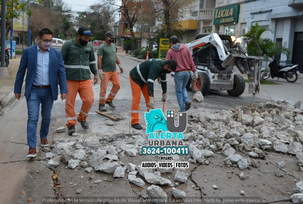 Sigue el programa de bacheo en calles del microcentro y barrios capitalinos