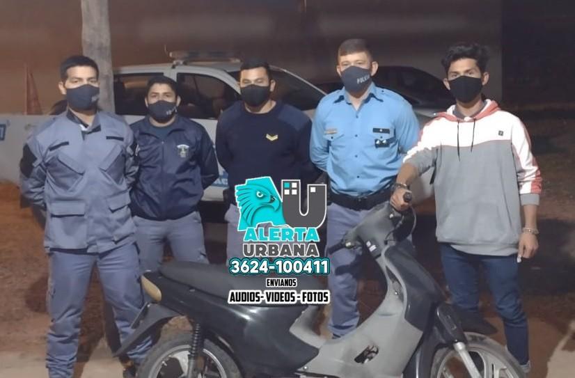 En menos de una hora recuperan una moto robada en Barranqueras