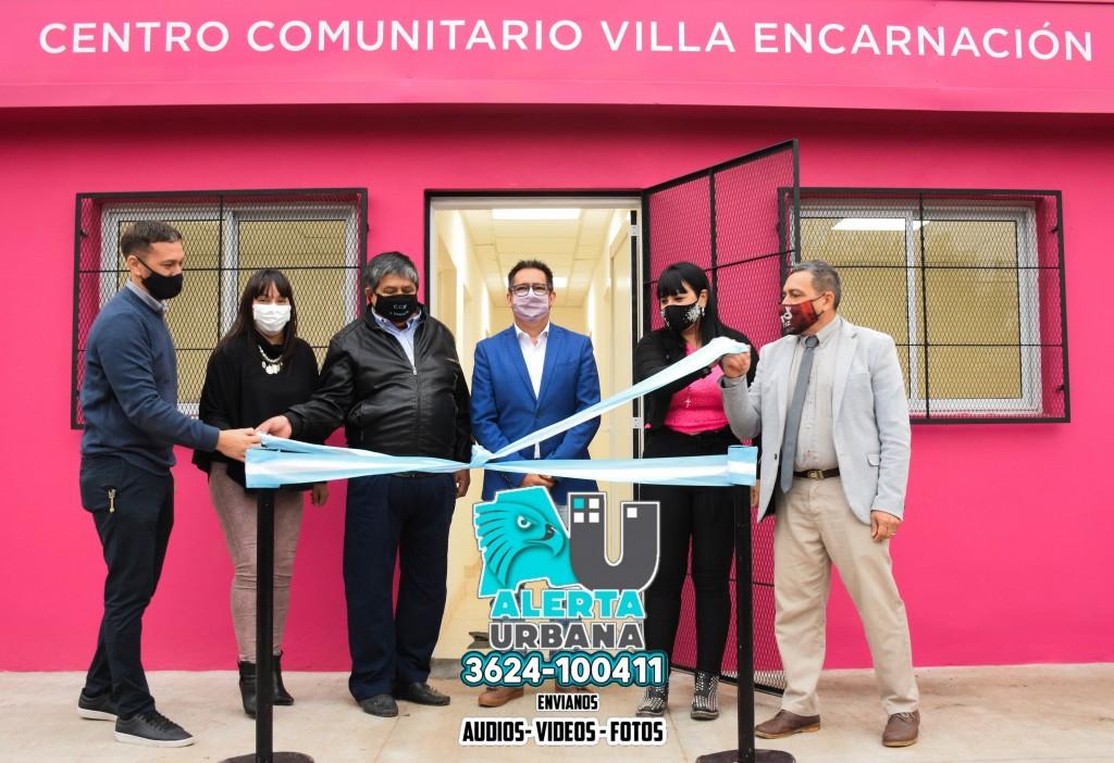 Se inauguró la refacción integral y ampliación del centro comunitario municipal de Villa Encarnación