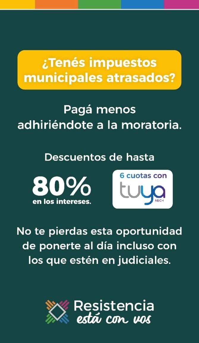 Moratoria municipal: hasta el viernes 11 se podrán pagar con grandes descuentos en los intereses