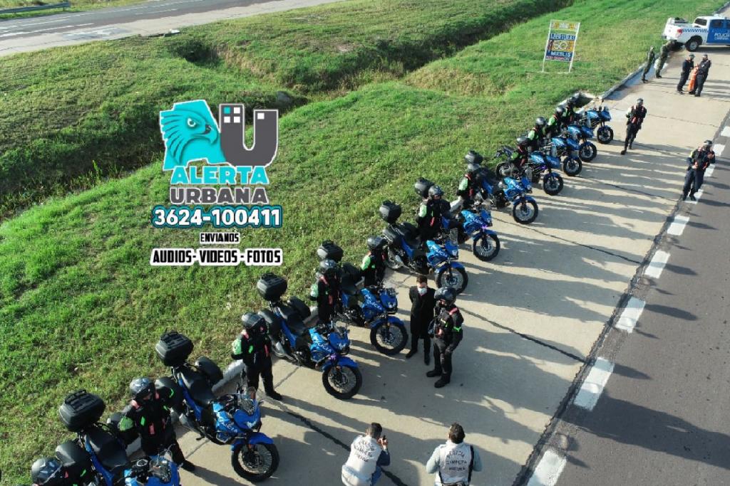 El Gobierno presentó la patrulla motorizada y entregó 12 motos de alto rendimiento