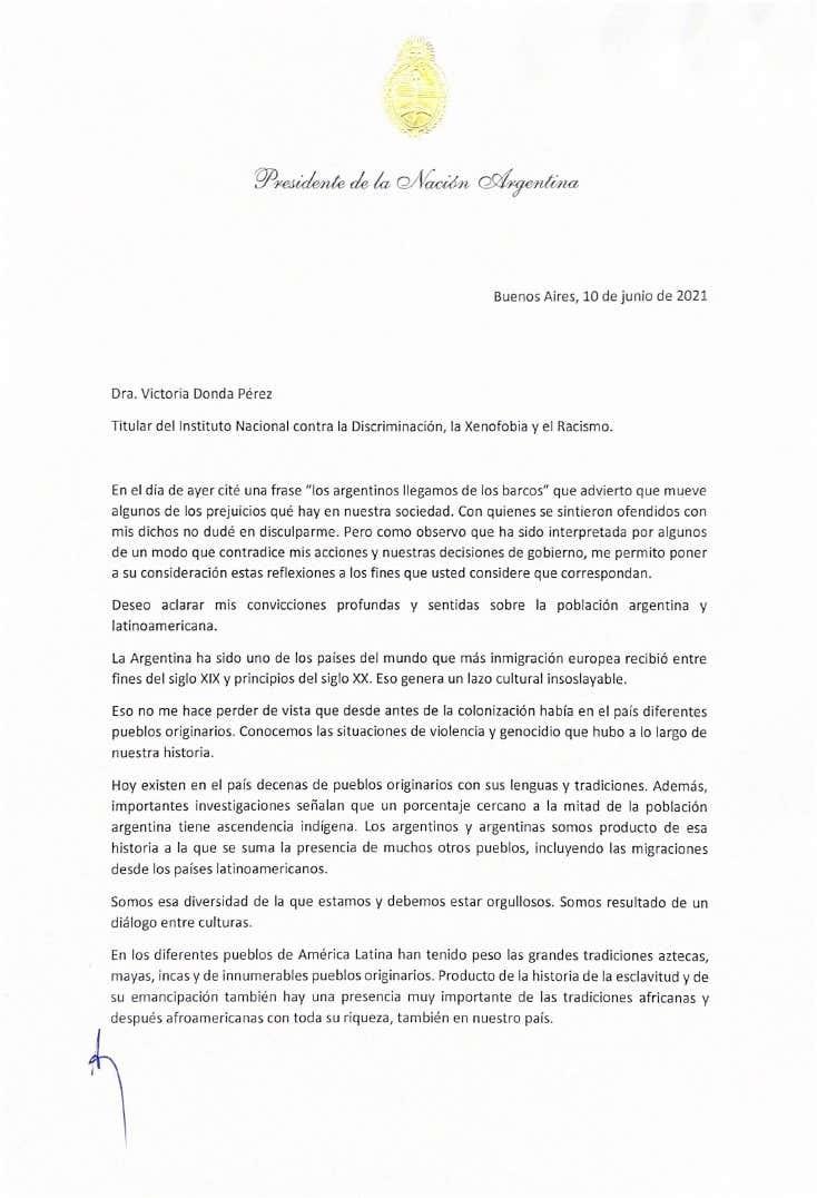 """Fernández aseguró que se siente """"orgulloso de la diversidad cultural"""" de la Argentina"""