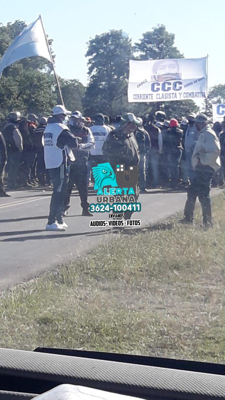 General San Martín: multitudinaria interrupción del tránsito en el acceso a la localidad