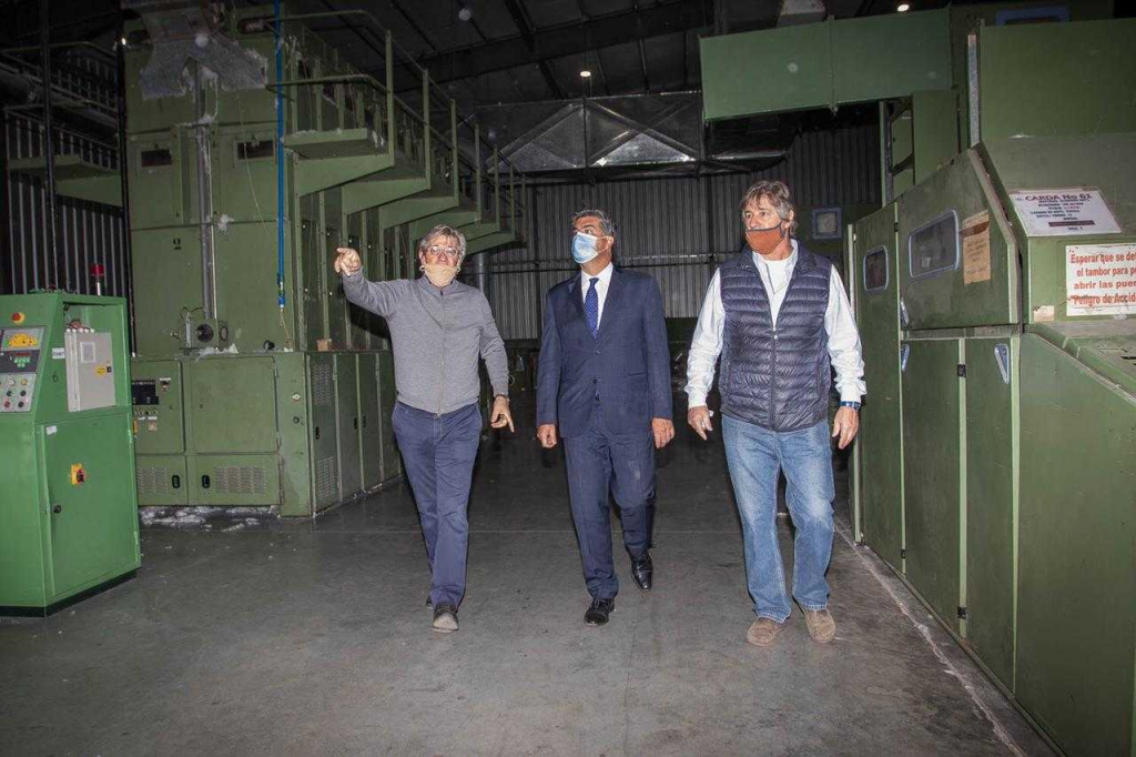 Capitanich recorrió la planta de la textil ConBra