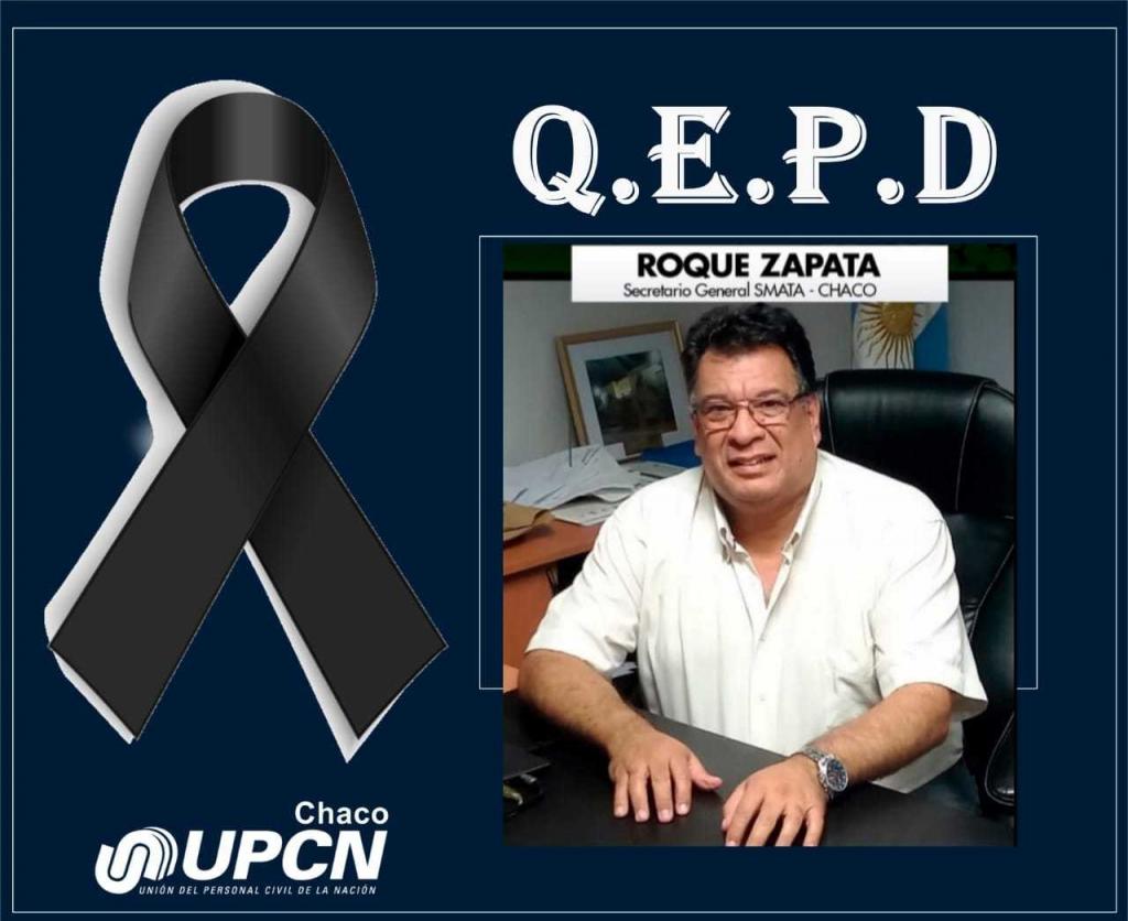 Pesar por el fallecimiento de Roque Zapata