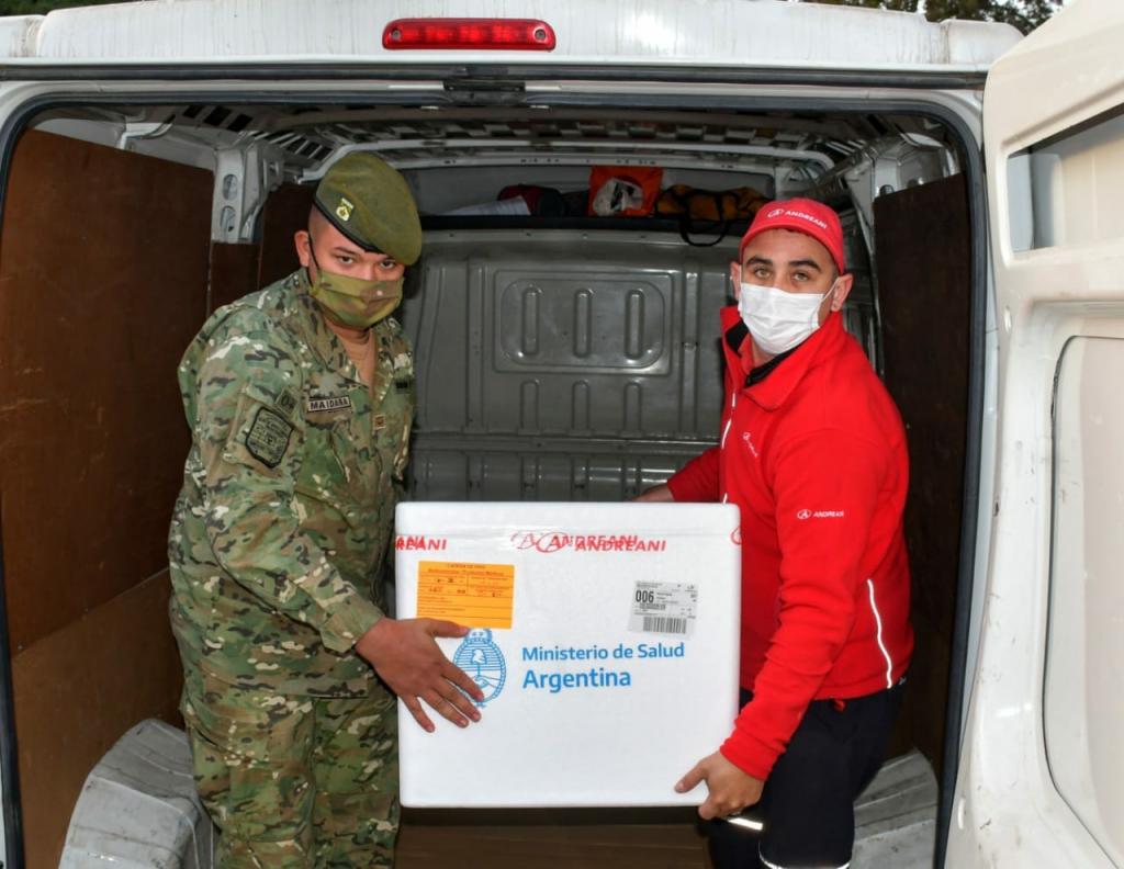 Chaco recibió una partida con 21.600 dosis de la vacuna AstraZeneca para completar esquemas de inmunización contra el COVID.1