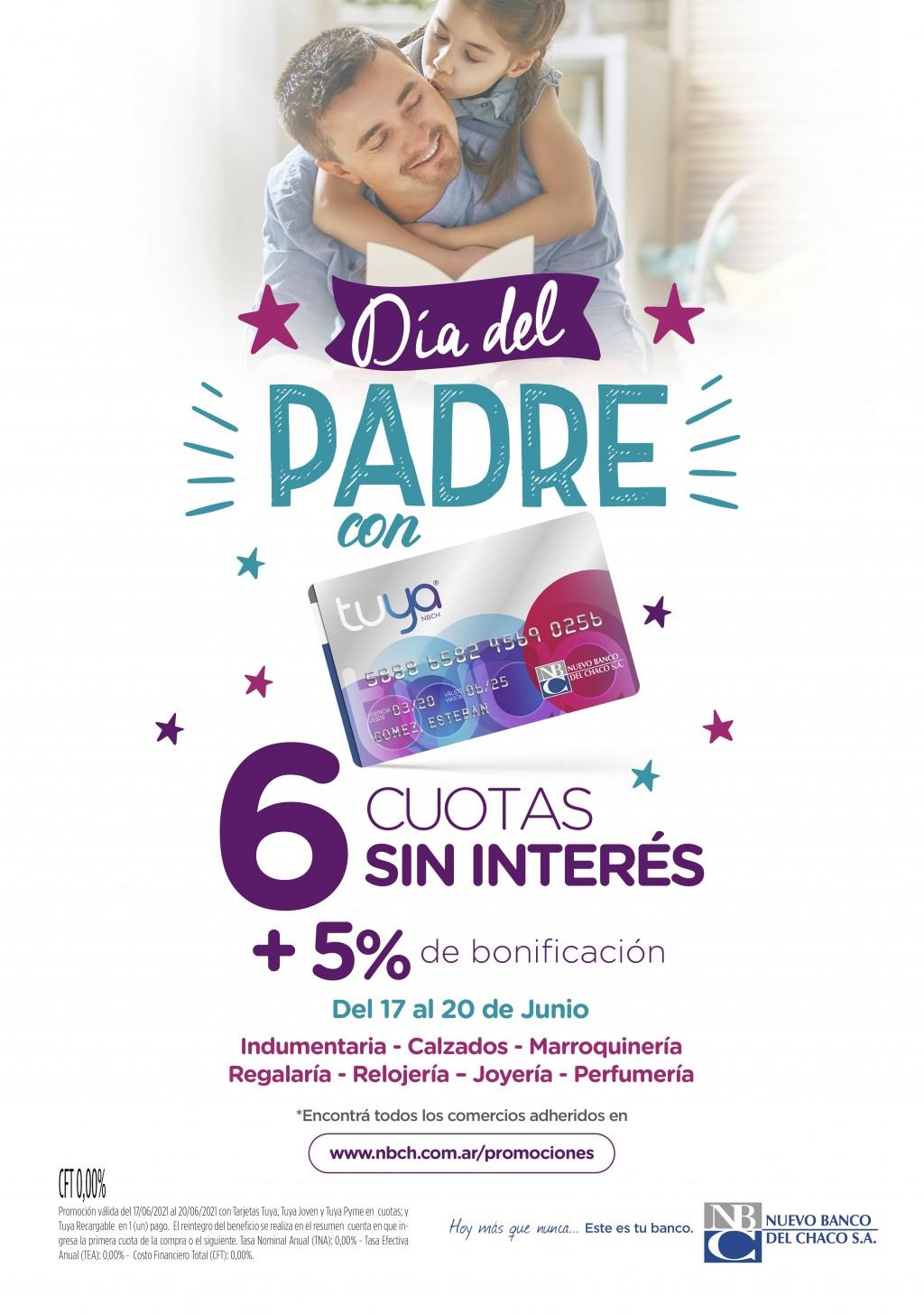 Promoción Día del Padre con Tarjeta Tuya