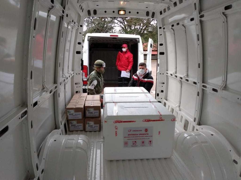 Arribó a la provincia un lote de 23.800 dosis de AstraZeneca
