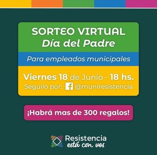 Resistencia realizó esta tarde el sorteo virtual para sus trabajadores por el día del padre