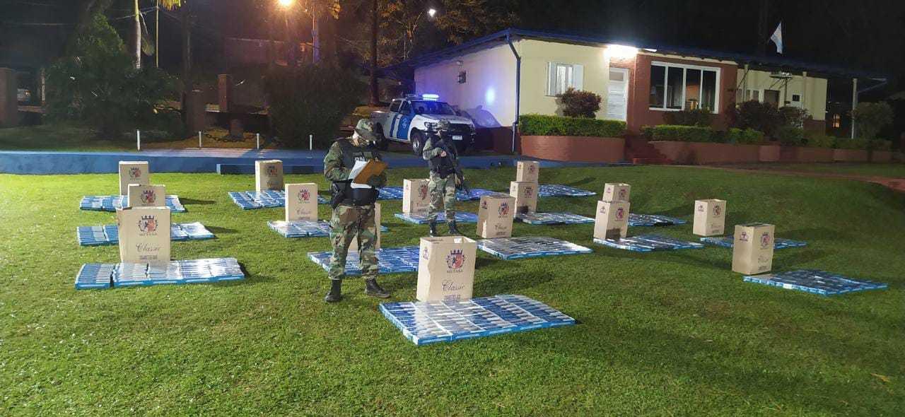 Misiones: Prefectura secuestró 8.500 atados de cigarrillos de contrabando