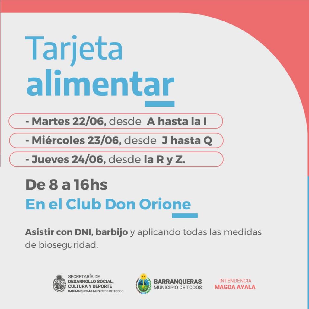 1052 familias reciben la tarjeta Alimentar en Barranqueras