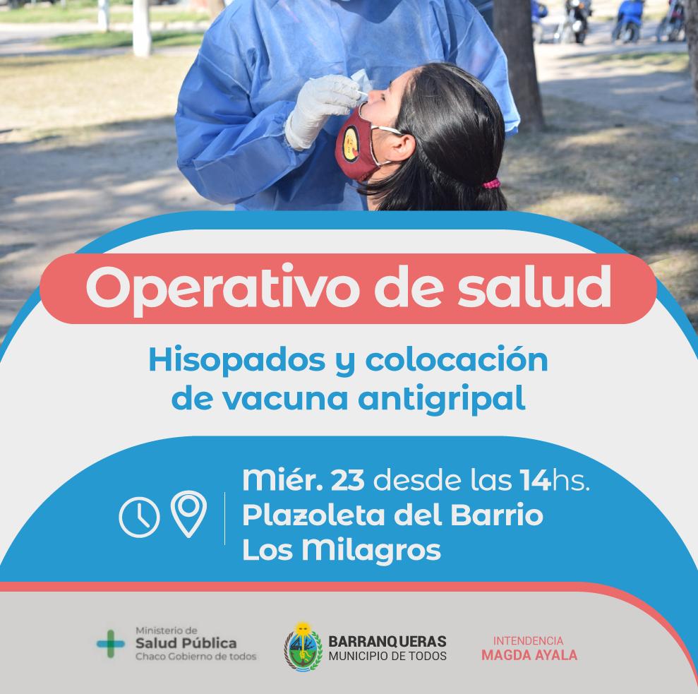 Barranqueras: nuevo operativo de salud en el Barrio Los Milagros