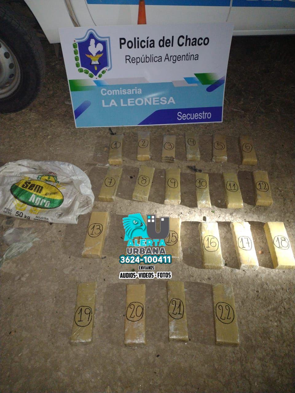 La Leonesa: sorprendidos cuando trasladaban droga