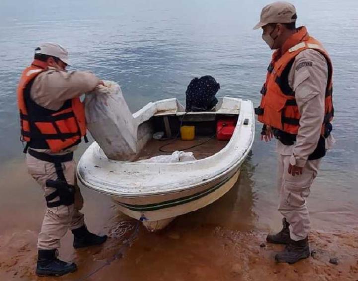 Prefectura secuestró droga a orillas del Paraná