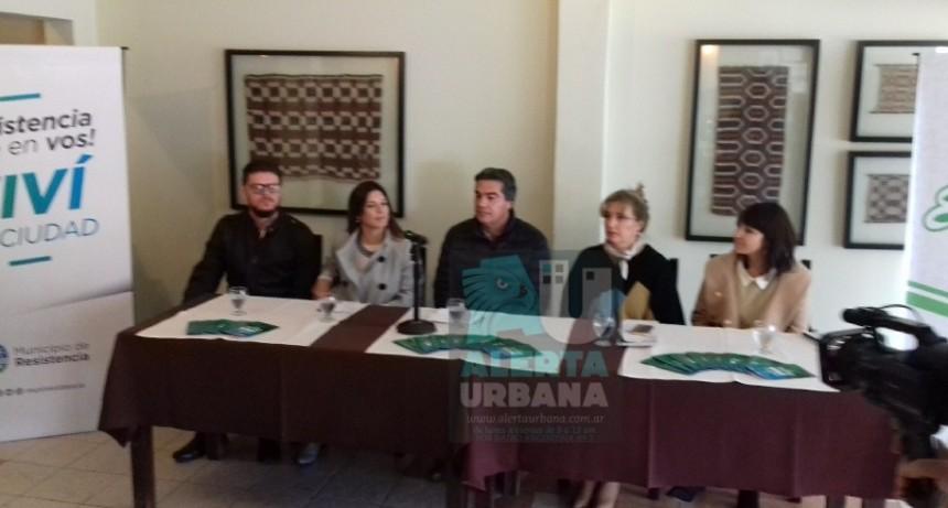 Capitanich realizó lanzamiento de puntos de encuentros para la Bienal de Esculturas 2018.