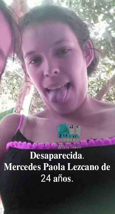 Buscan a Mercedes Paola Lezcano de 24 años.