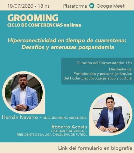 Ciclo de conferencias sobre Grooming con la participación del diputado Roberto Acosta