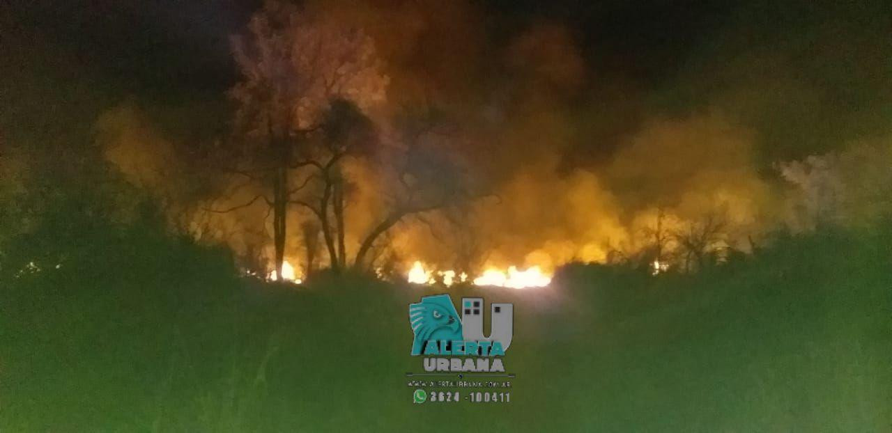 Gran incendio de pastizales