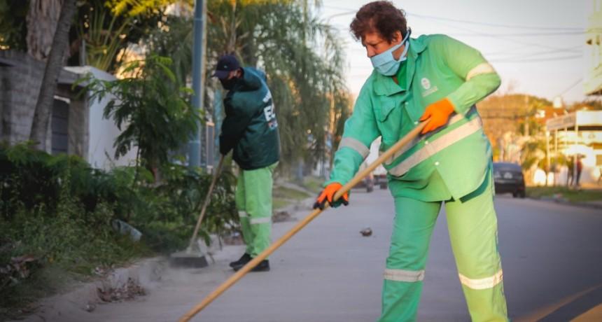 Operativo integral de limpieza en barrios y avenidas principales de la Zona Este de Resistencia