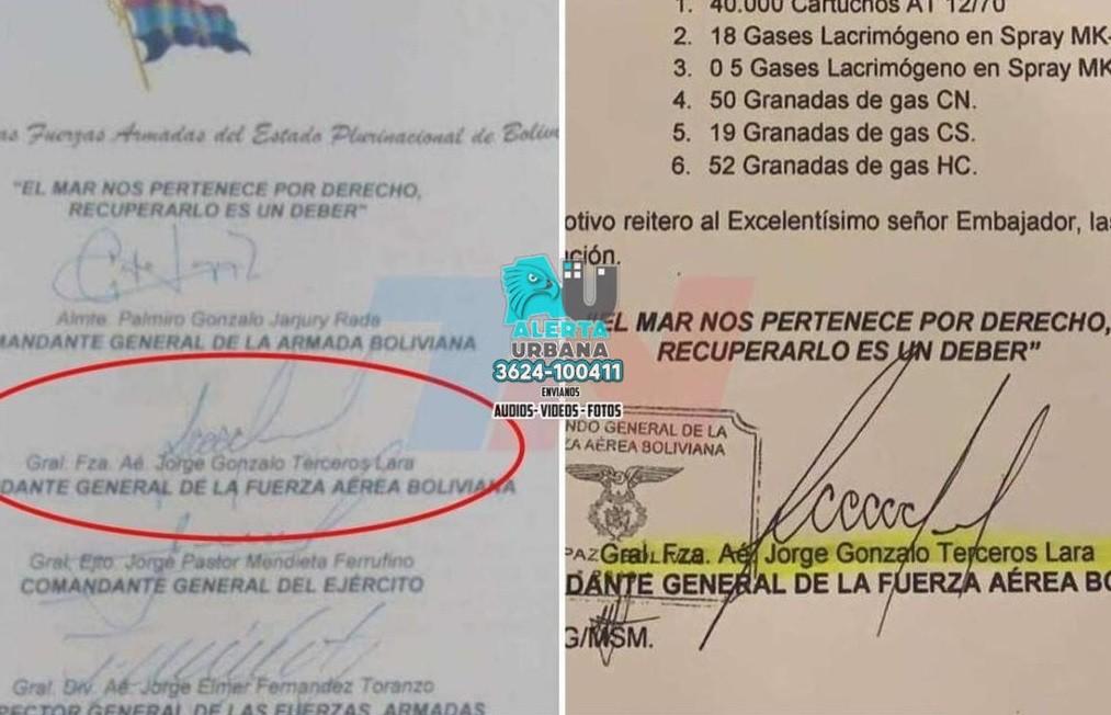 """""""La carta es falsa"""" aseguró el ex comandante boliviano, Jorge Gonzalo Terceros"""