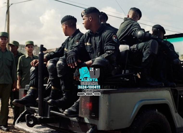 "El régimen cubano desplegó a los ""boinas negras"""