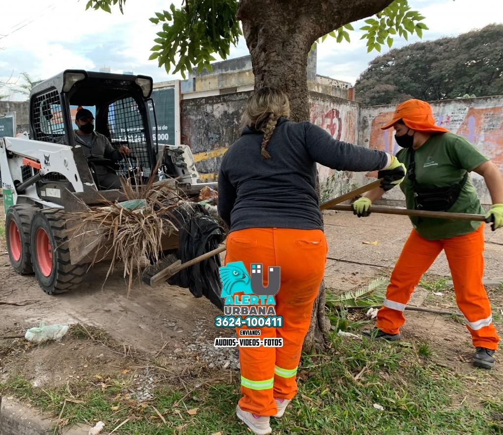Resistencia: operativo de limpieza en el barrio Central Norte