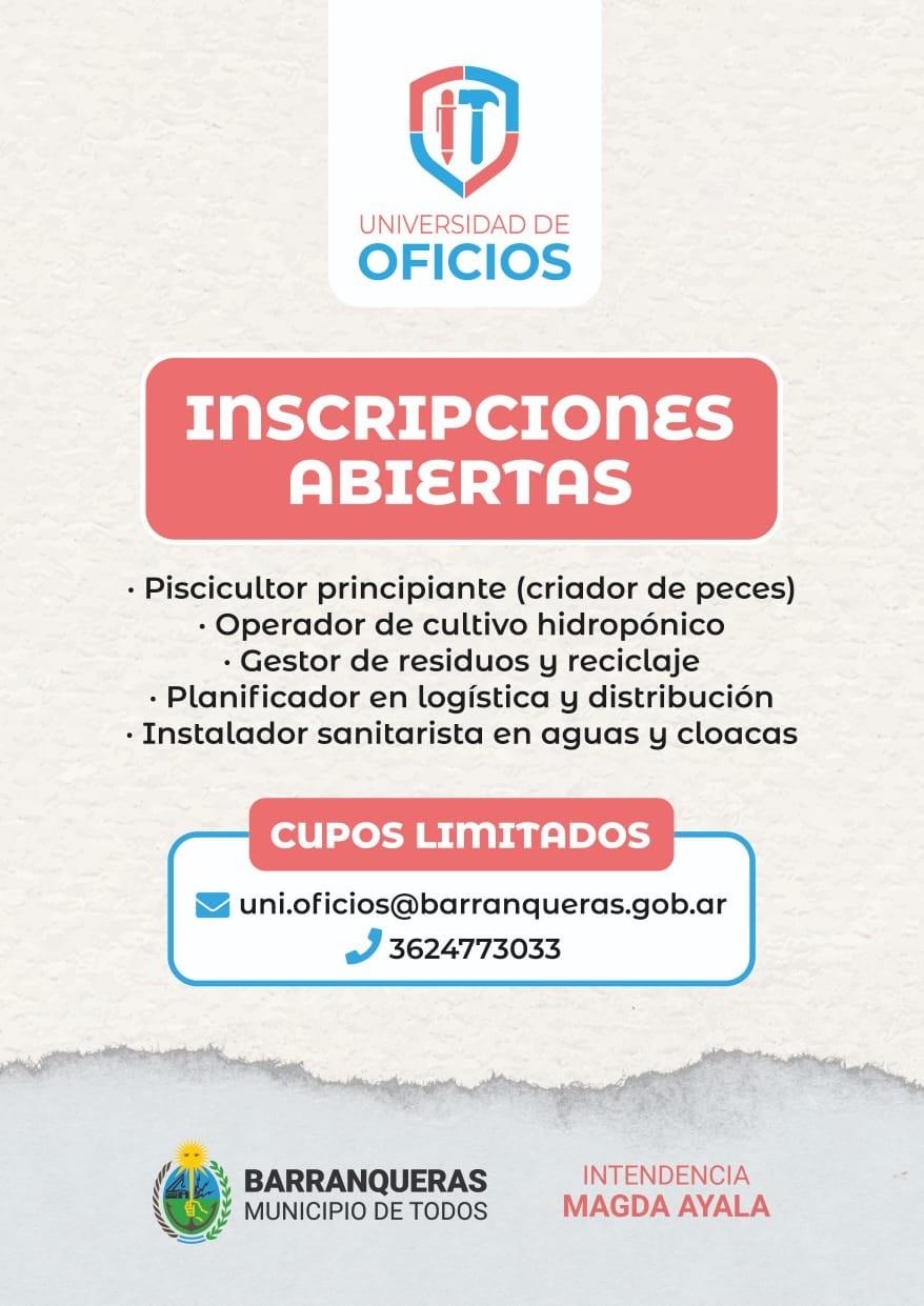 Universidad de oficios en Barranqueras