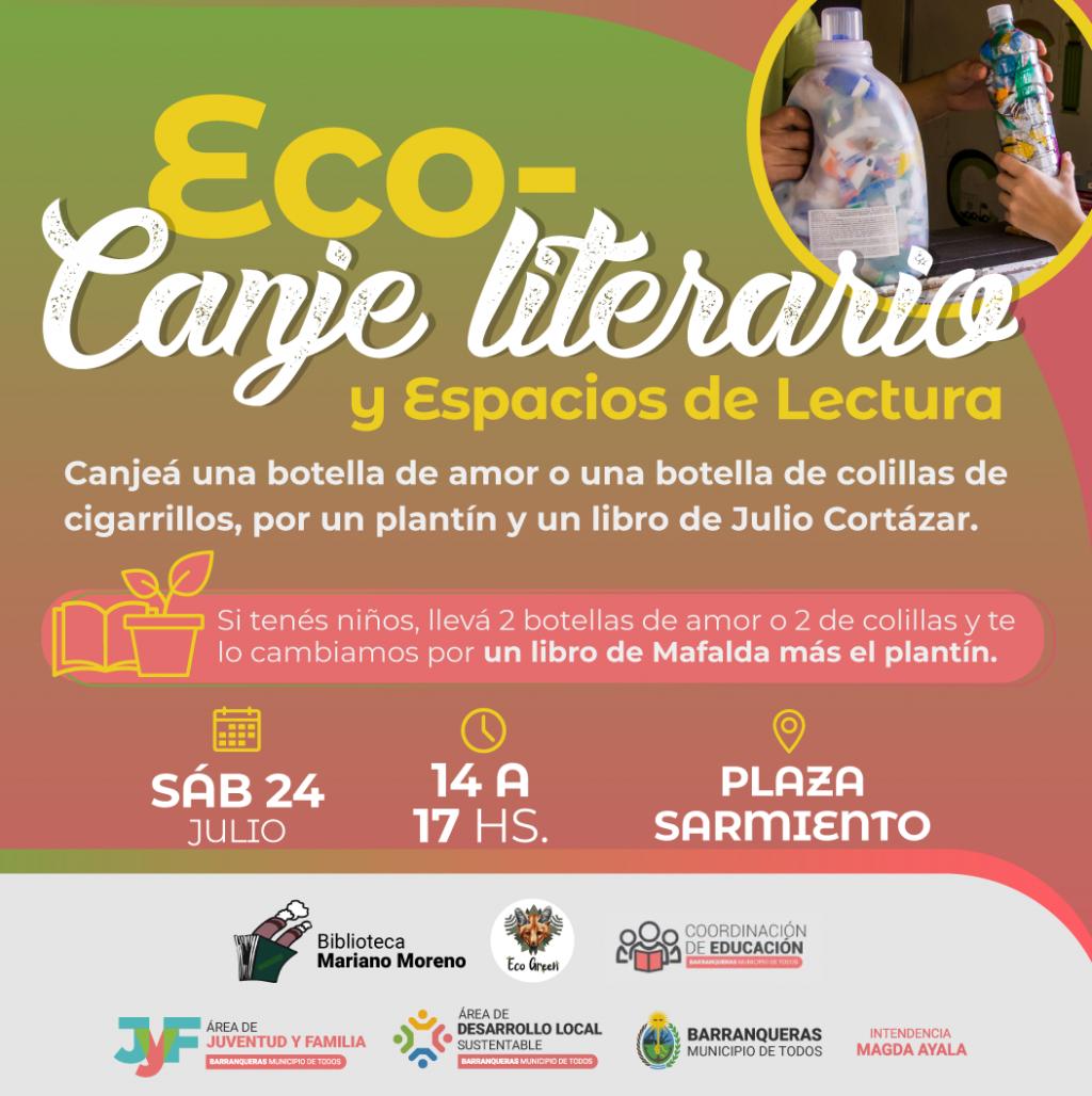 Barranqueras: llega una nueva edición del Eco Canje literario