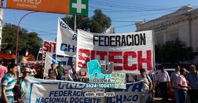 Capitanich reprime las protestas docentes