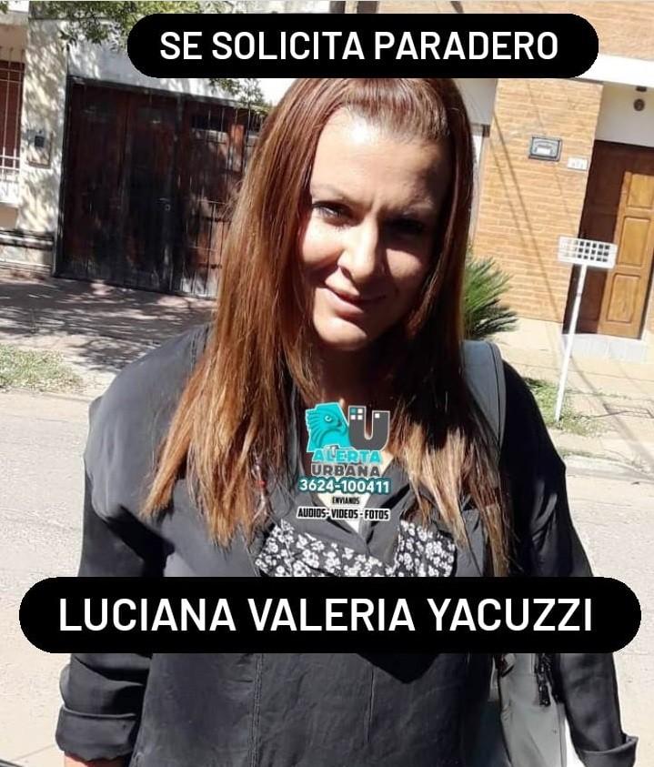 Se solicita información del paradero de Luciana Valeria Yacuzzi
