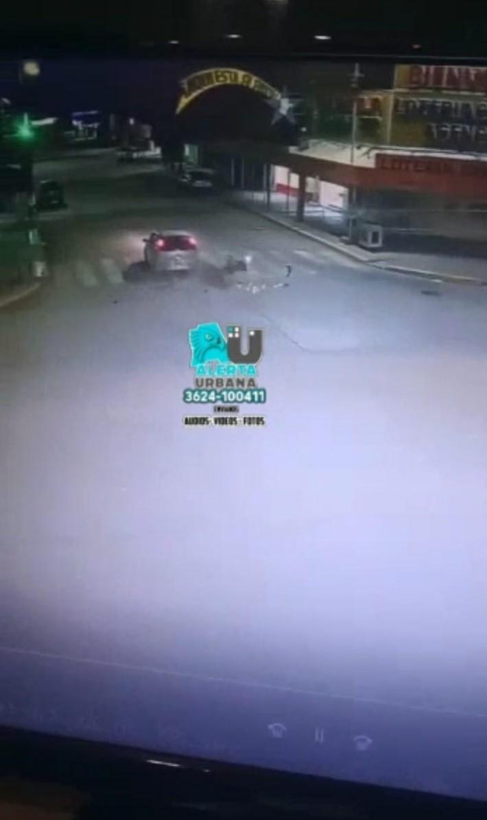 Video impactante de un choque