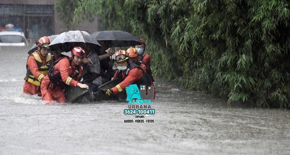 China: el tifón In-Fa tocó tierra tras devastadoras inundaciones