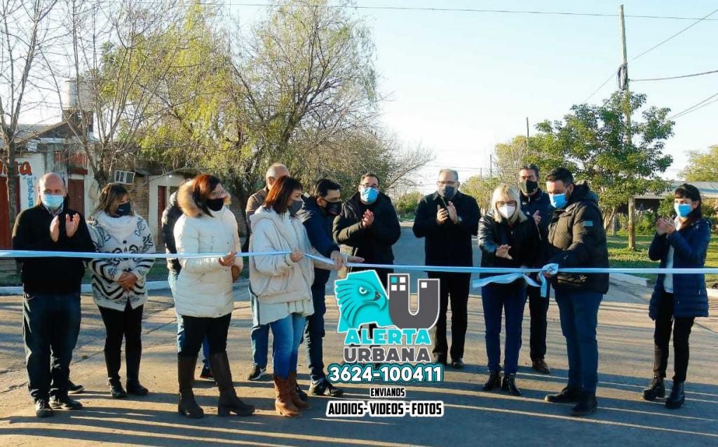 Inauguraron 17 nuevas cuadras de pavimento en Fontana