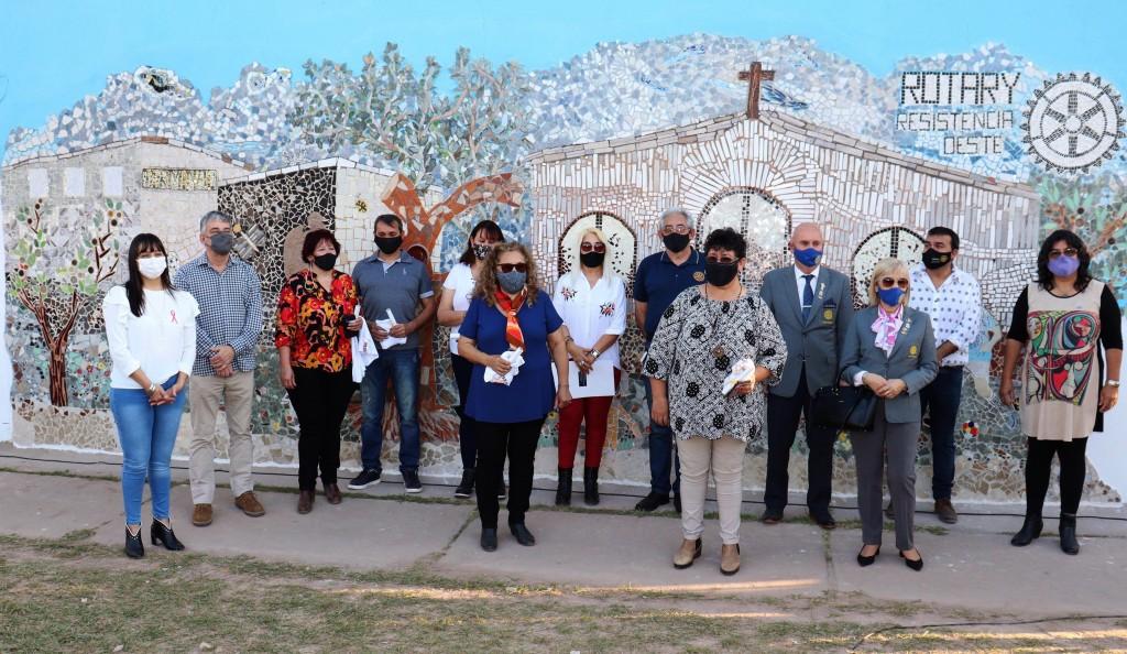 Resistencia: Se inauguró un mural en el Barrio 69 Viviendas UOM