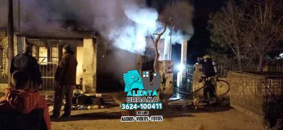 Incendio en el barrio General Obligado