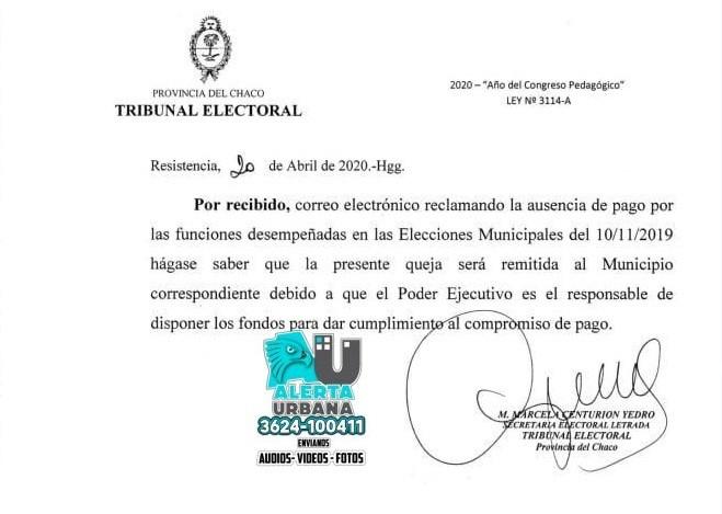 Delegados de las elecciones del 2019 reclaman sus pagos