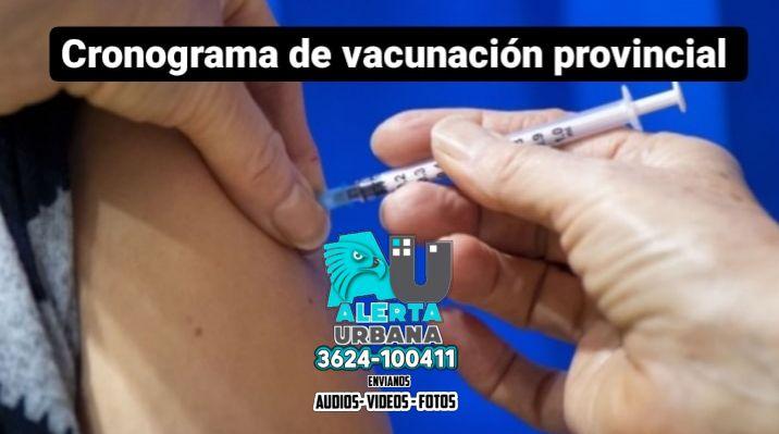 Cronograma provincial de vacunación: jueves 29 de julio