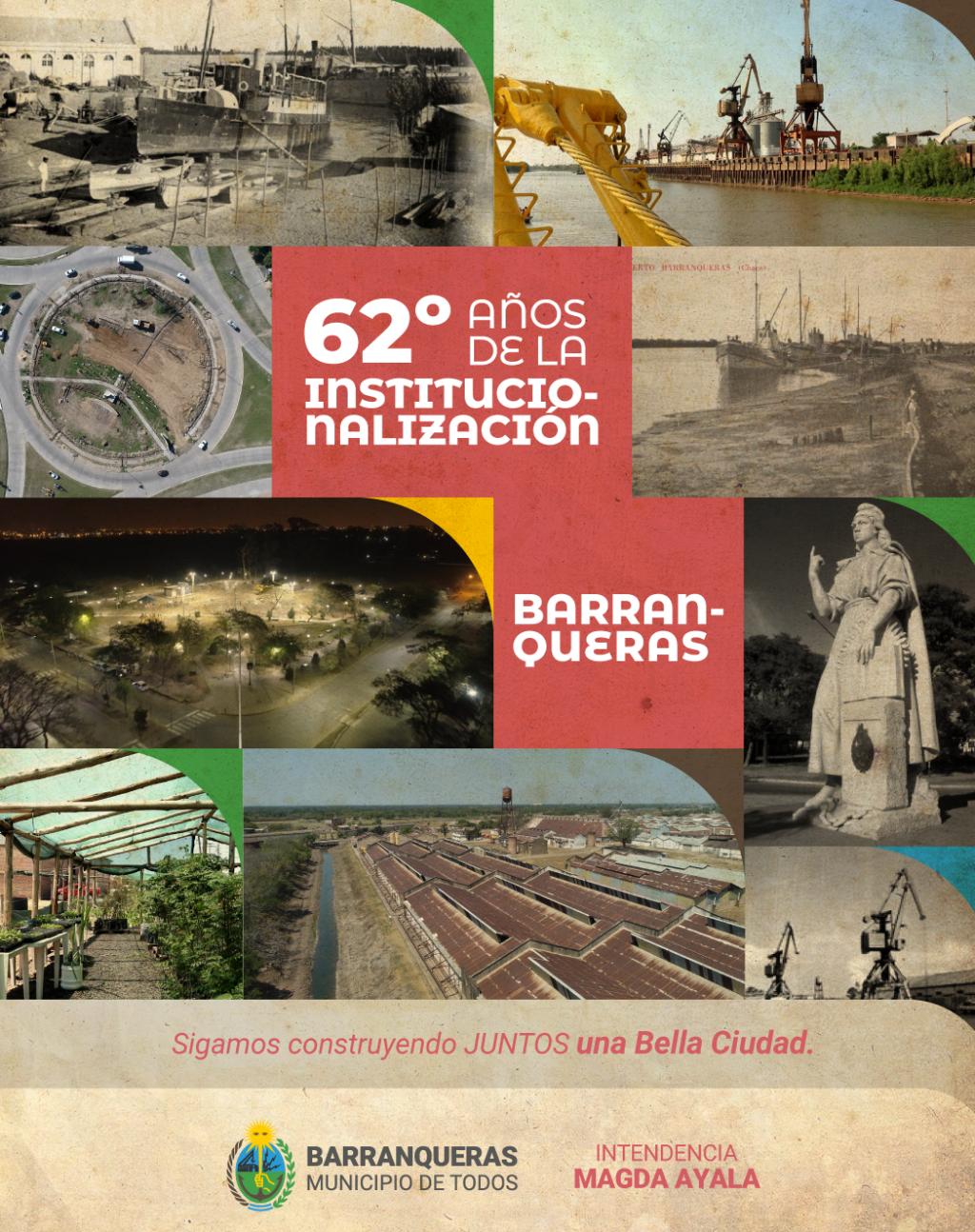 Barranqueras celebra 62 años de autonomía municipal