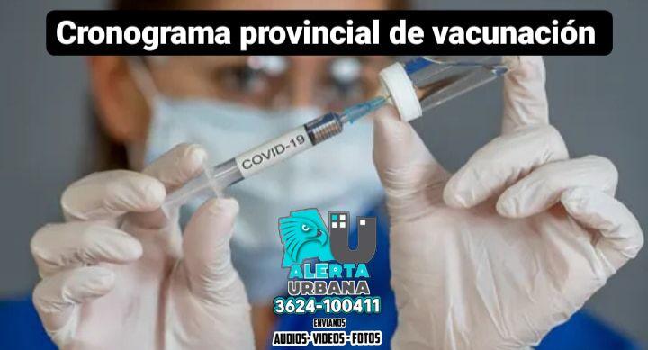 Cronograma provincial de vacunación: viernes 30 de julio