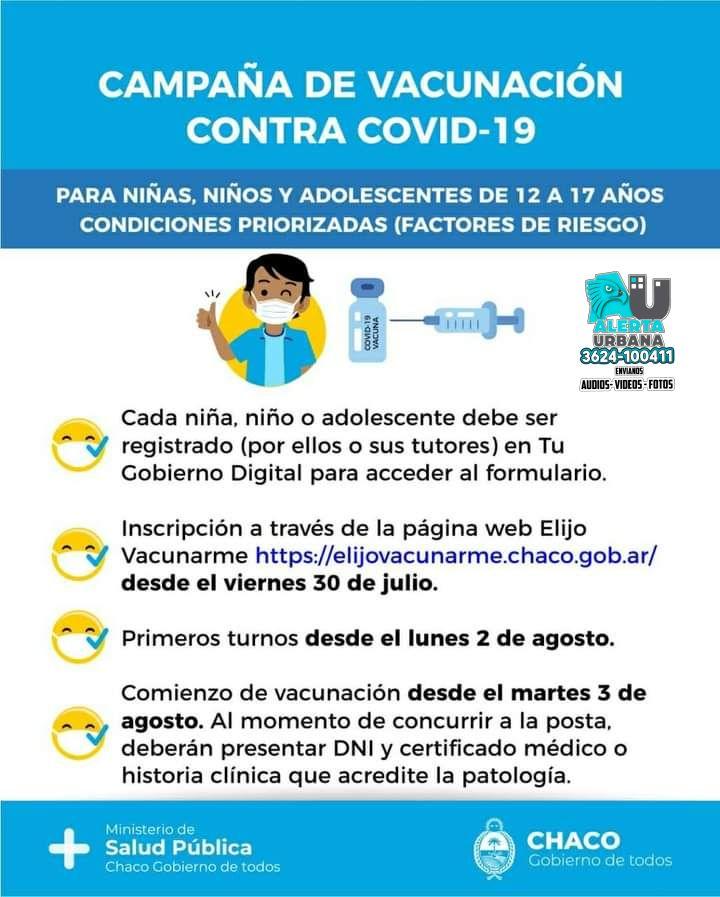 Campaña de vacunación para niños, niñas y adolescentes