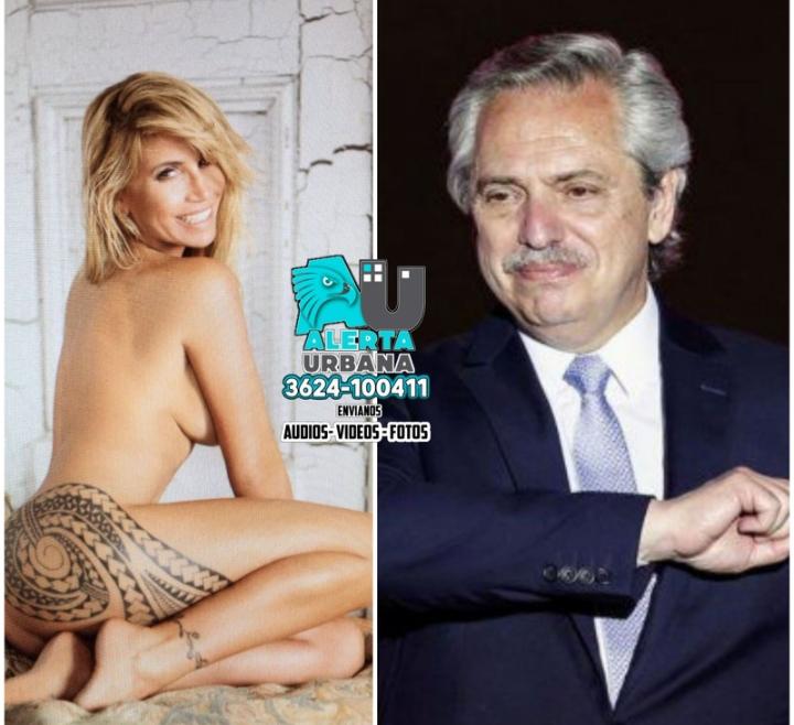 Florencia Peña se mensajea en privado con el presidente