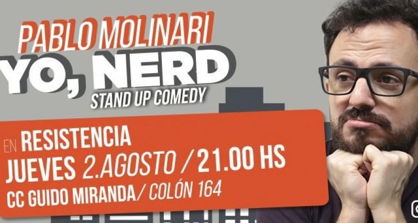 Yo, Nerd: el unipersonal de Pablo Molinari, hoy en el Guido Miranda