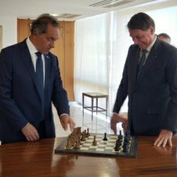 """Encuentro diplomático: """"Queremos, de corazón lo mejor para Argentina"""", le dijo Jair Bolsonaro a Daniel Scioli"""