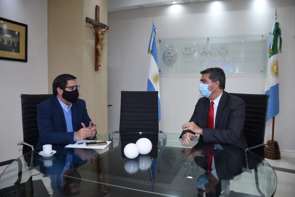 Agenda de trabajo entre Martínez y Capitanich para obras de infraestructura y para el proceso de desescalada.
