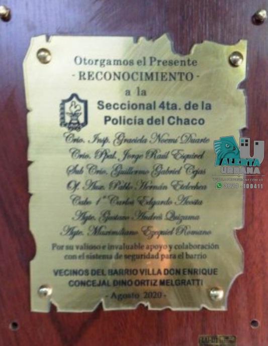 Reconocimiento a efectivos de la Comisaría Cuarta, por su labor policial.