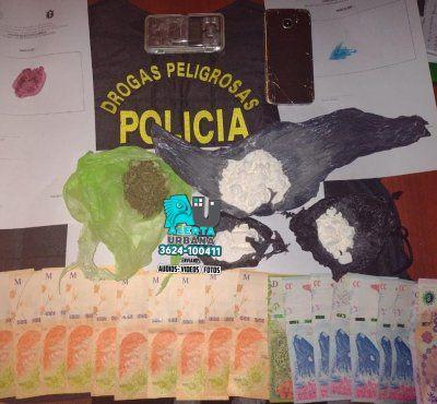 Allanamiento, detención e incautación de marihuana y cocaína