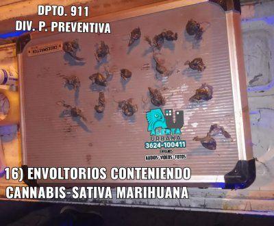Resistencia: Fueron atrapados por vender marihuana