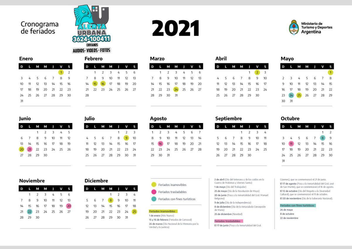 Agosto 2021: ¿Hay fin de semana largo?