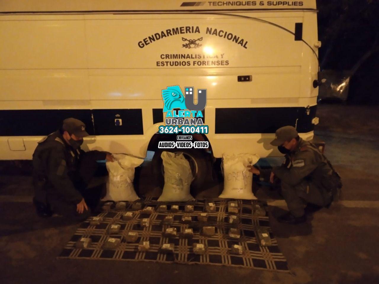 Resistencia: Gendarmería Nacional incautó más de diez kilos de marihuana